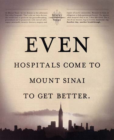New York Times Mount Sinai full page ad